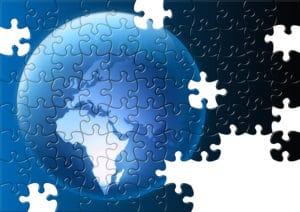 Mr. Tutor-Tech Website Design World Puzzle Image